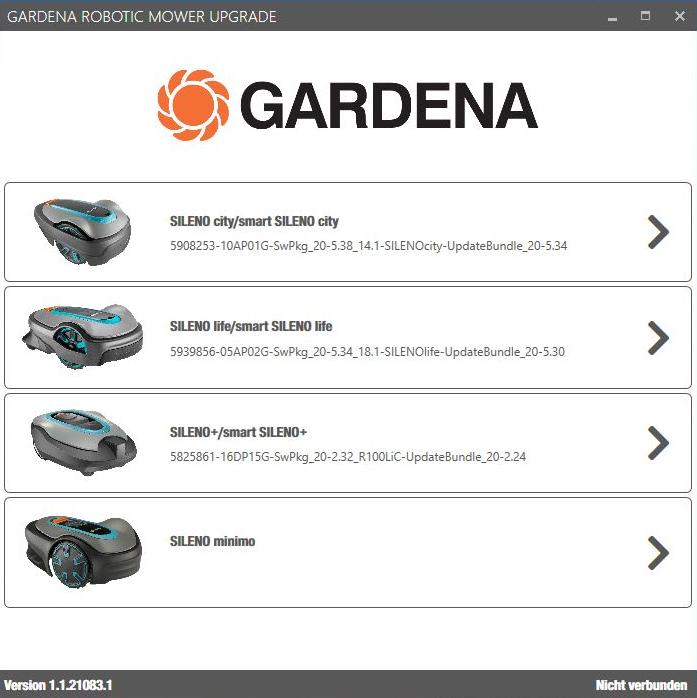 Screenshot Gardena Update Software