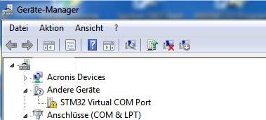 Screenshot Windows Gerätemanager